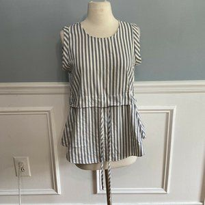 Kling Modcloth Jusine Top Striped Cinched …